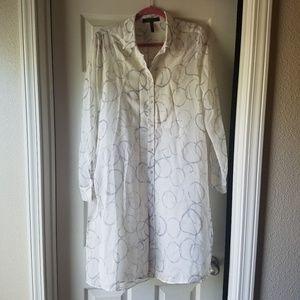BCBG MAX AZRIA Taylur Printed Silk Shirt